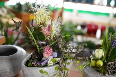 kleine Blumenarrangements