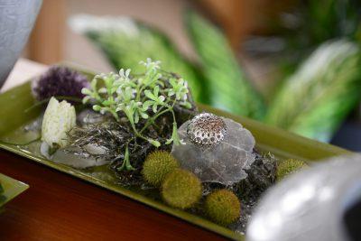 Tischdekoration mit Trockenmaterial